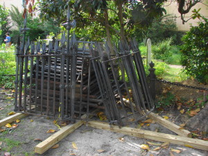 fence pile